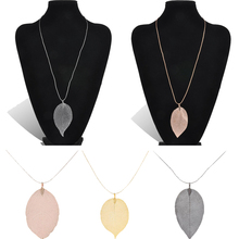 Buy LNRRABC Fashion 1PC Women Elegant Leaves Leaf Style Pendant Necklace Long Sweater Chain Jewelry Gift 4 Colors for $1.27 in AliExpress store