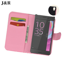 Wallet Case Sony E5 Leather Cover Xperia F3311 F3313 5.0 Inch Cute Painting Mobile Phone Bag&Case Card Slot - KKCASE store