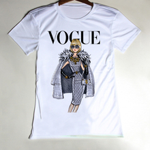 Cheap Fashion White T Shirt Women Sexy Tops Vogue Retro Punk Tee Shirts Cotton O Neck Camiseta Woman T-shirt Short Sleeve S-XXXL(China (Mainland))