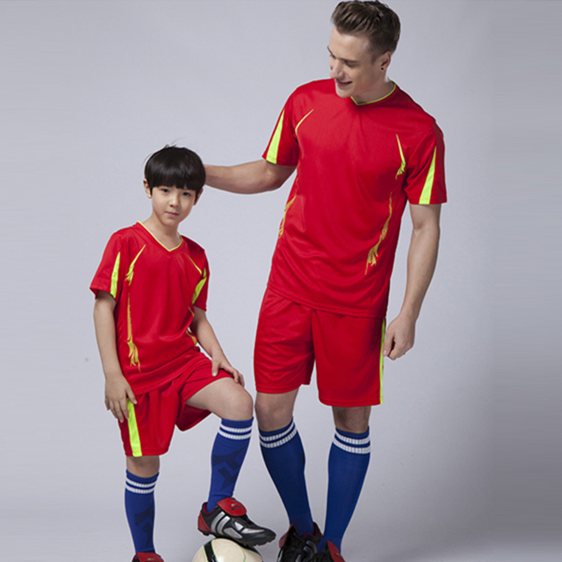 2016 new arrival boys soccer training jersey suits survetement football men's blank team kits short running sets sportwear print(China (Mainland))