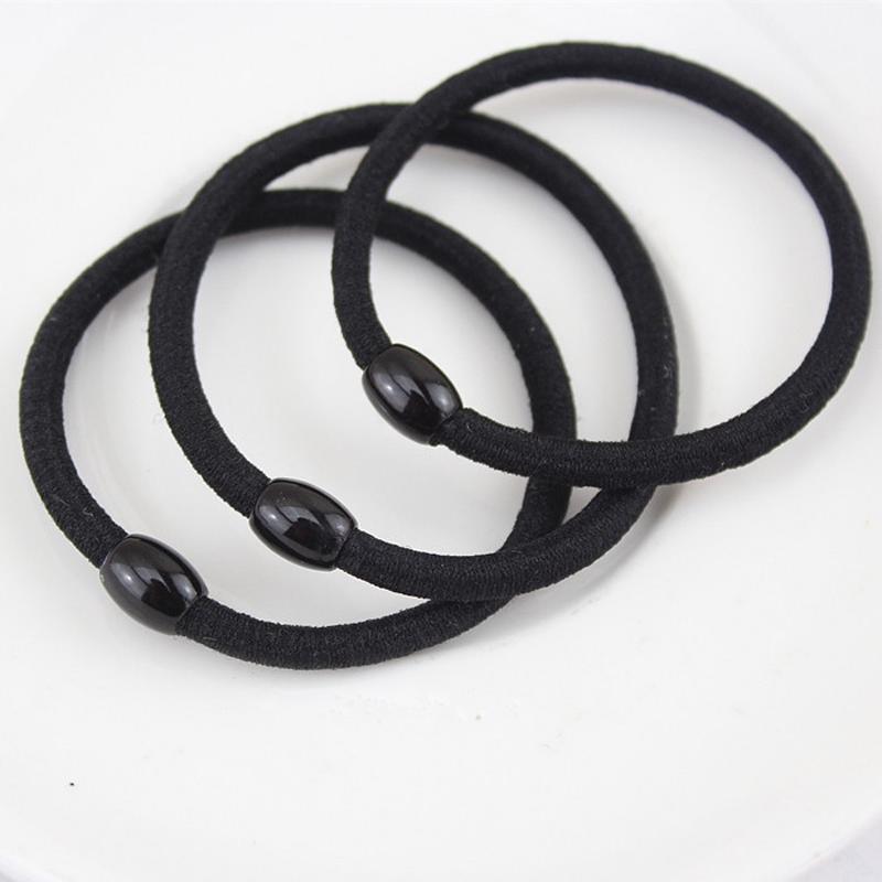 4pcs Girl Women Rubber Hair Braid Tie Elastic Ring Hot Hair Styling Tools Black Ring Elastic Ponytail Holders Hair Accessories(China (Mainland))