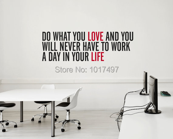 Free shipping Inspirational vinyl wall decal quote stickers - do what you love .. for home office ,J2051(China (Mainland))