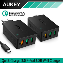 Buy AUKEY USB Charger Quick Charge 3.0 3-Port USB Wall Charger LG G5 Samsung Galaxy S7/S6/Edge Nexus 6P/5X iPhone 7 Plus iPad for $16.84 in AliExpress store