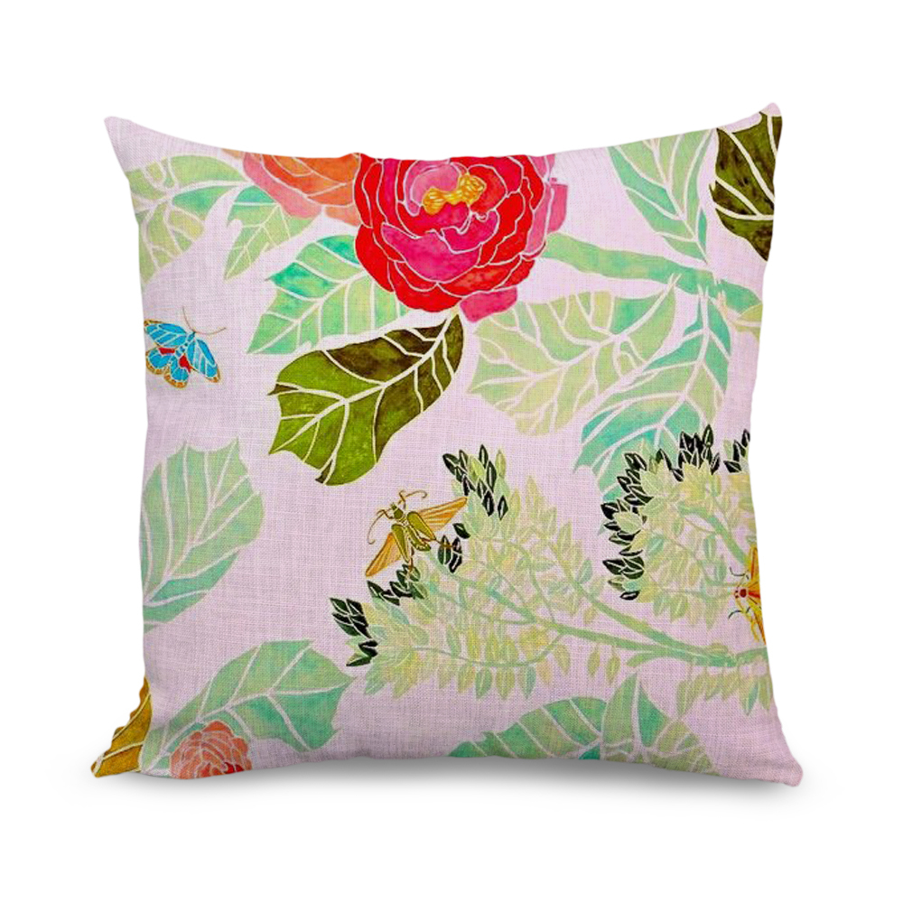 Bulk Throw Pillow Cases : Aliexpress.com : Buy Wholesale 18x18 inch Butterfly and Flower Print Throw Pillow Covers Sofa ...