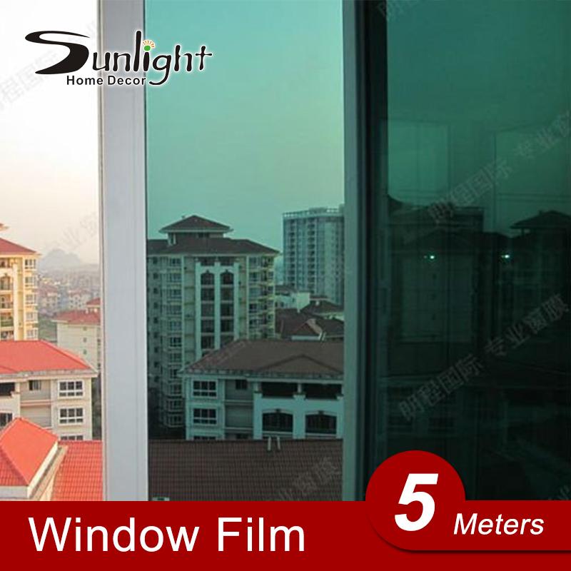 Self adhesive Insulation One-way Mirror Film Sunscreen Walls paper Transparent Vinyl Mirror Sticker Window Glass Films Stickers(China (Mainland))