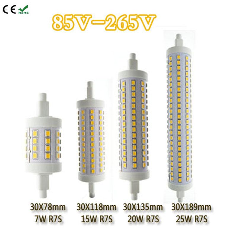 r7s led bulb 10w 15w 18w smd2835 85 265v dimmable 78mm 118mm 135mm 189mm led lamp r7s light 360. Black Bedroom Furniture Sets. Home Design Ideas