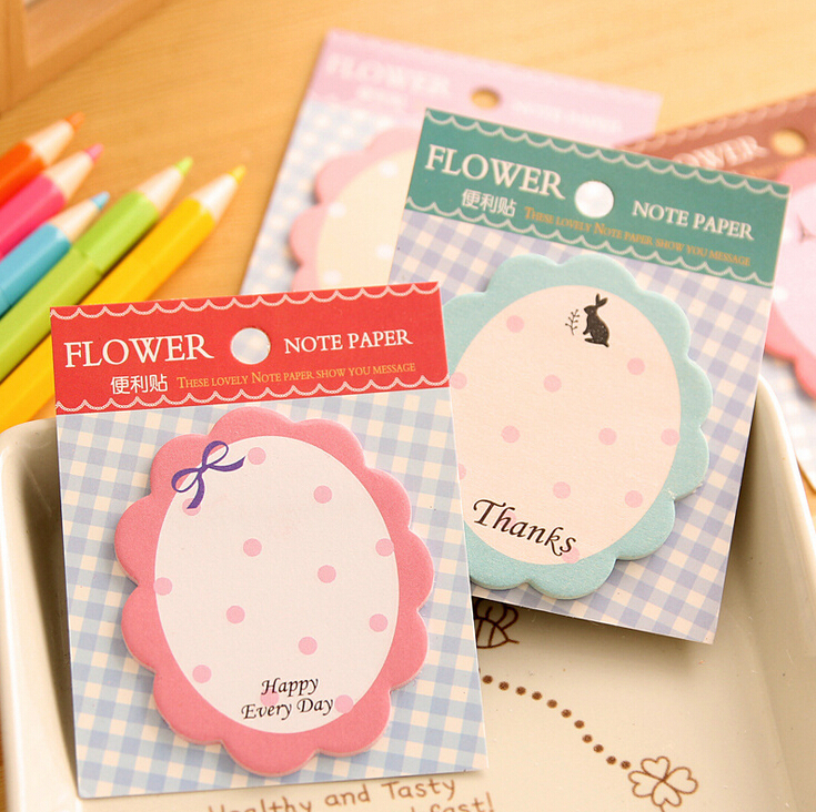 Гаджет  Sweet Flowers Post-It Notes Index Flag Sticky Notes Paper Stickers Memo Pad Bookmark Marker FOD None Офисные и Школьные принадлежности