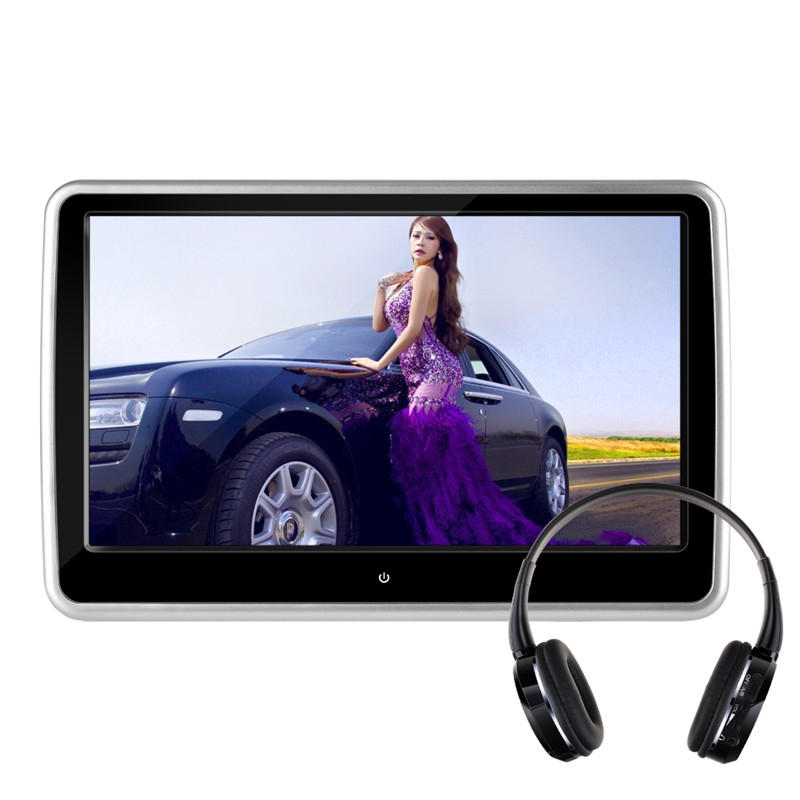 10.1 inches TFT LCD Touch Screen Car Monitor Headrest DVD Player Inside Hitachi Lens USB SD HDMI Port Car-Styling Video Player(China (Mainland))