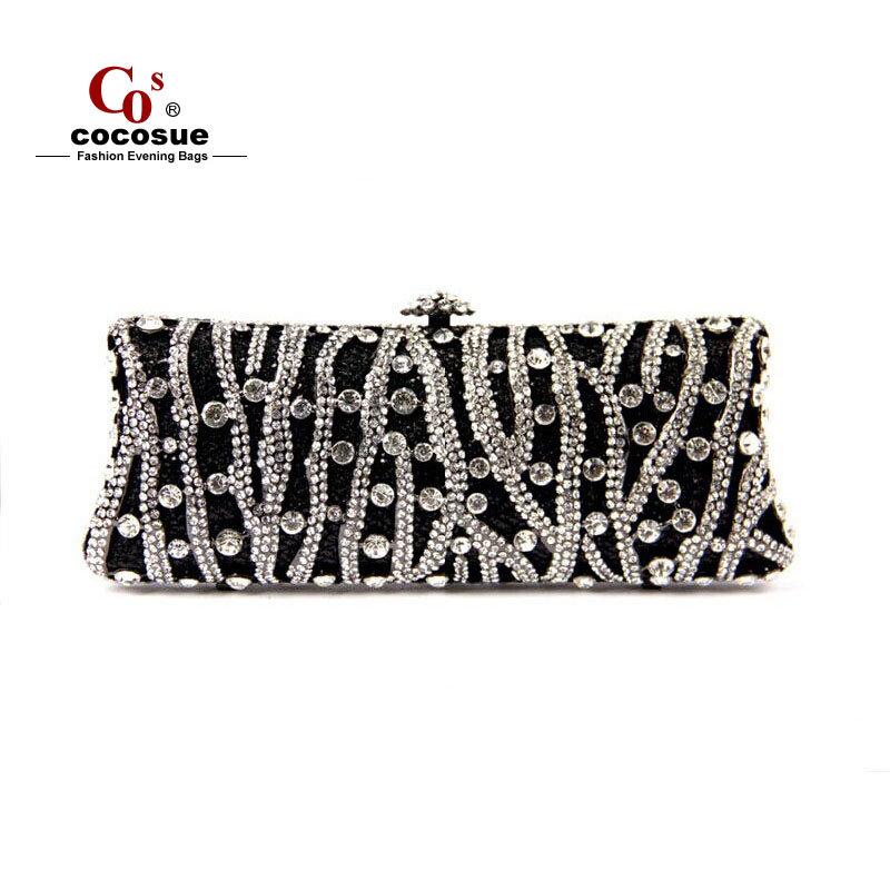 Women Evening Bags 2015 Fashion Brand Handbags Luxury Ladies Crystal Purses PU Leather CO1073 - Guangzhou cocosue Co., Ltd. store