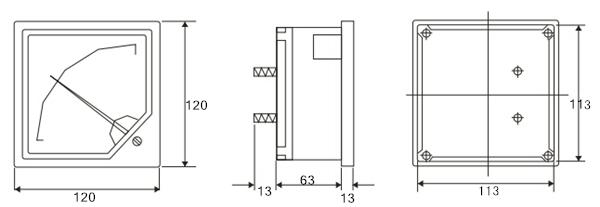 42L6 Voltage Current Power Meter 6KV 10KV 42L6 KV Panel