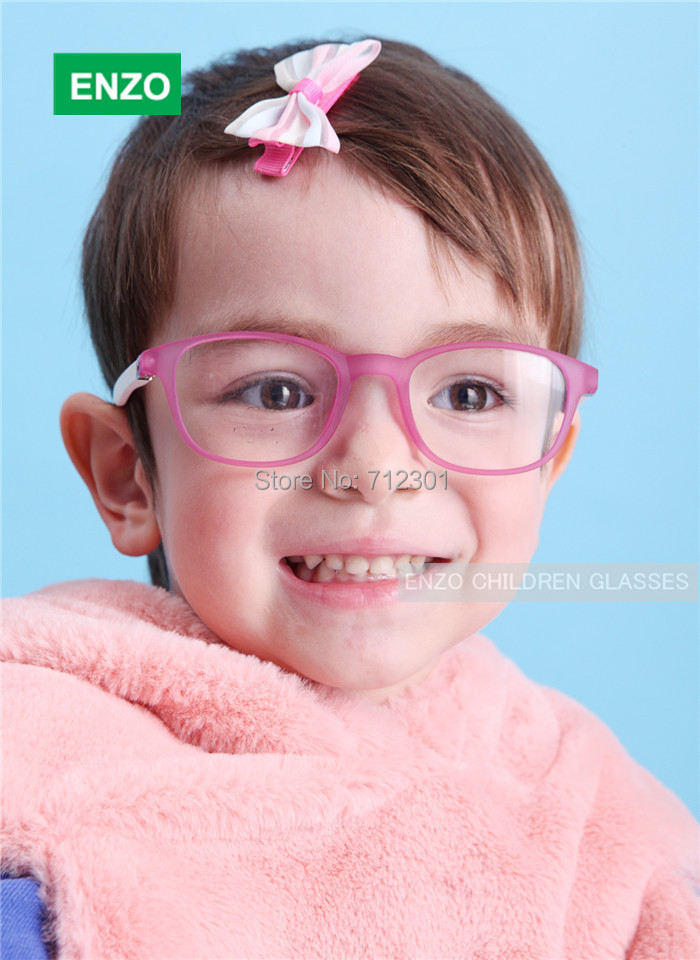 Girls Optical Frame Bendable, Kid's Eyeglasses Frame with Spring Hinge, Unbreakable TR90 Safe Double Layers Boys Glasses(China (Mainland))