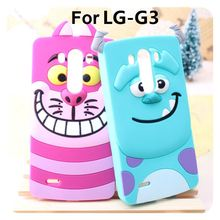 Case LG G3 D855 D830 D851 VS985 D850 f400L 3D Cartoon Cat Dog Tiger Animal Soft Silicone Cases Cover - IRS Trading Co.,Ltd store