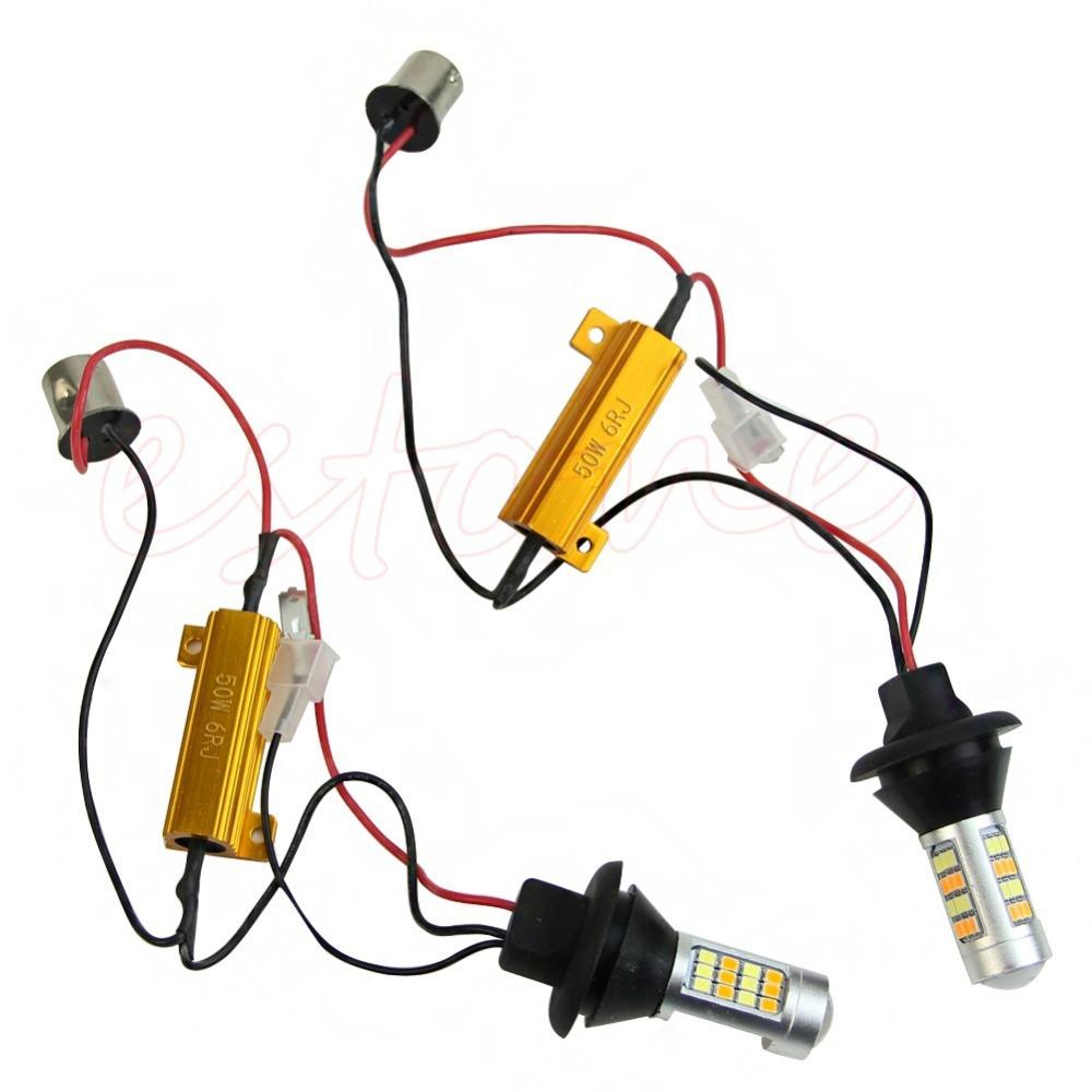 Гаджет  B39 Newest 1Pair BAU15S 2835 42LED Dual-Color Switchback LED DRL Turn Signal Light Kit free shipping None Автомобили и Мотоциклы