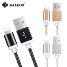 Buy KALUOS 0.2M 1M 1.5M 2M 3M Metal Braided Fast Charging 8-Pin USB Data Sync Charger Cable iPhone 5 6 7 Plus 5S 6S 5C SE for $1.50 in AliExpress store