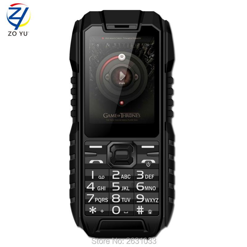 IP68 mobile phones 2G 4-band Dual SIM card cell phone Dustproof and waterproof senior phone 2.0 HD display 1450mah phoneZOYU928(China (Mainland))