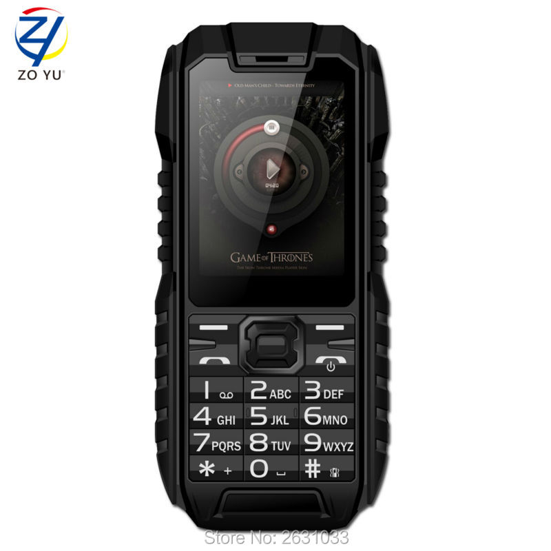 IP68 mobile phones 2G 4-band Dual SIM card cell phone Dustproof and waterproof senior phone 2.0 HD display 1450mah phoneZOYU928(China (Mainland))