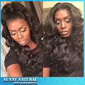 Handmade Brazilian Body Wave Wigs Glueless Black Synthetic Lace Front Wig Natural Wavy Heat Resistant Hair