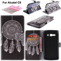 For Alcatel One Touch Pop C9 Case Luxury Pattern Wallet Flip Case for Alcatel C9 Cover