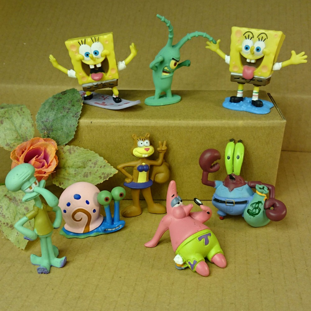 8pcs/set Aquarium Landscaping SpongeBob aquarium fish tank ...
