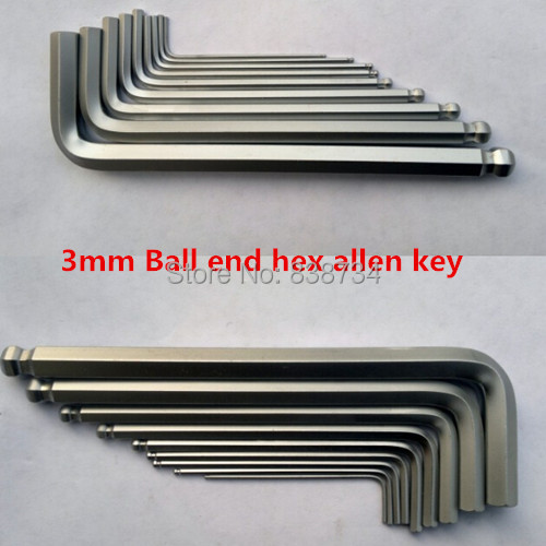 50pcs 3mm hex key wrench ball end hex key spanner allen wrench key