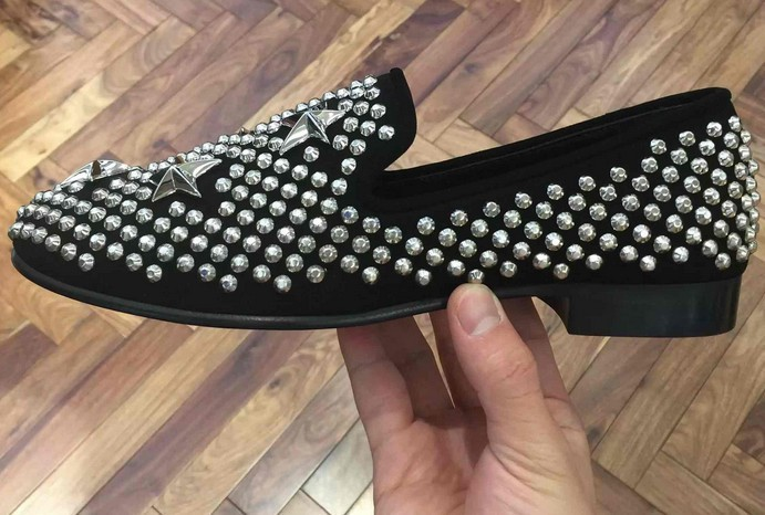 best quality in stock size35-46 zanotty sneakers,leather trainer men women silver star Ankle shoe box dust bag shoes guiseppe(China (Mainland))