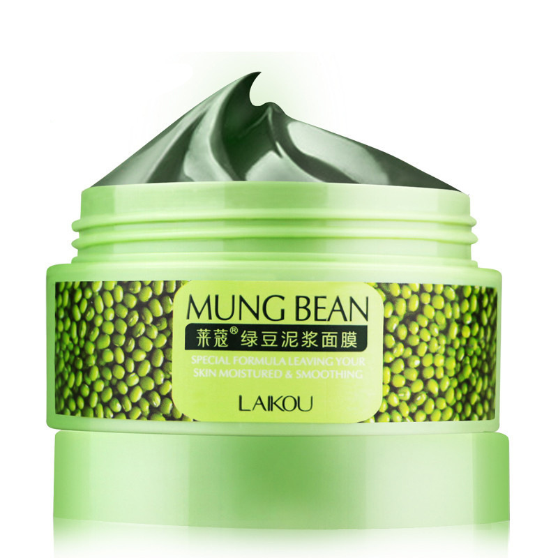 Mung bean mud mud mask deep clean oil moisturizing hydrating to yellow pox-eliminated black sent free shipping costs(China (Mainland))