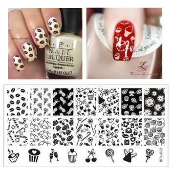 Cute Candy Nail Art Stamp Template Image Plate Nail Stamping Plate Stamp Tools BORN PRETTY BP-L023 12.5 x 6.5cm