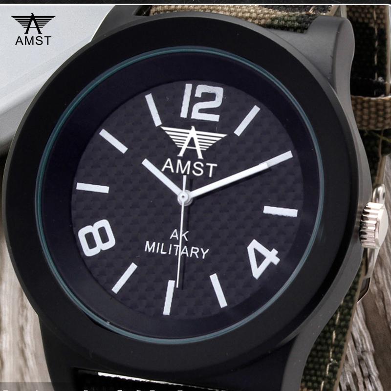 AMST Men Watch Military Army Watches Canvas Strap Male Sport Wrist Watches Men's Quartz-watch Clock Commander relogio masculino(China (Mainland))