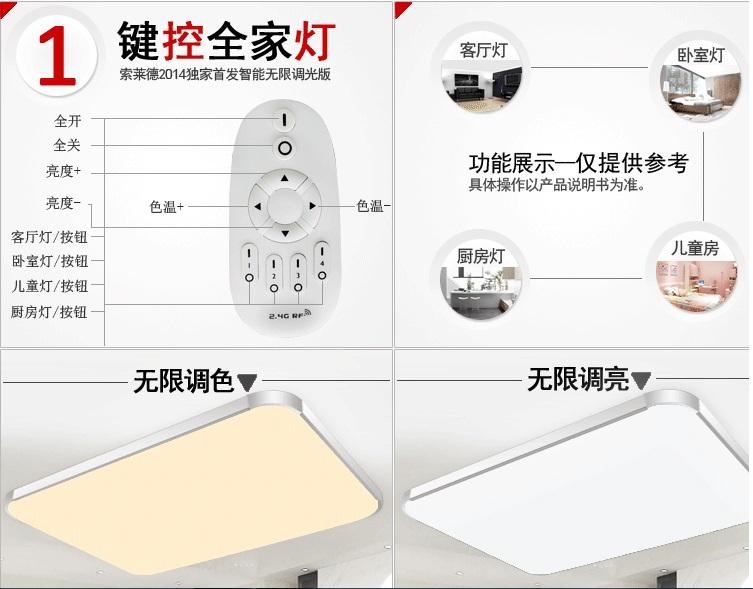 LED Apple Ceiling ligh Square led Ceiling Lamp adjust brightness and color temperature kitchen light bedroom modern livingroom(China (Mainland))