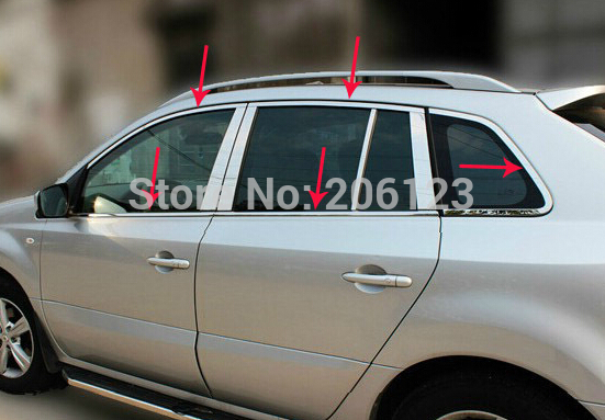 2009-2013 Renault Koleos High quality stainless steel window trim cover(Up+down+posterior triangle,a Set of 10pcs)<br><br>Aliexpress