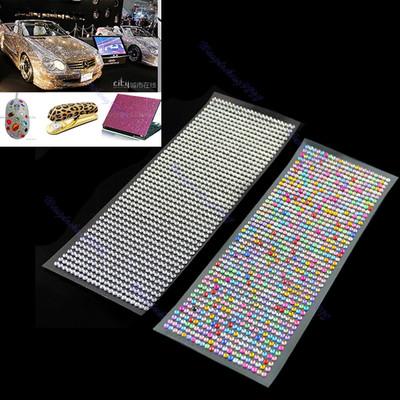A25 Free Shipping DIY 4mm 1000pcs Crystal Diamond Decoration Sticker For Car Mobile PC Nail Art(China (Mainland))