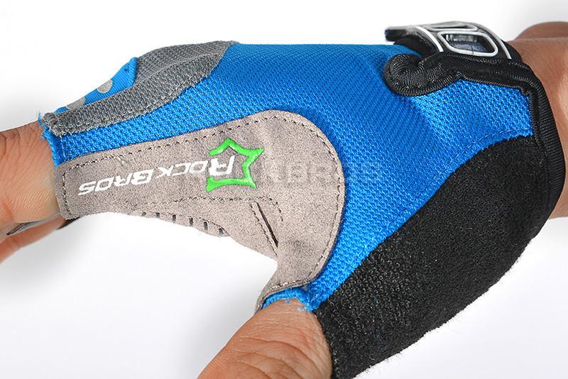 2015 rockbros мода Мужская женщин гель pad половина finger перчатки велосипед велосипедов цикла нескользящей воздухопроницаемой перчатки, 5color