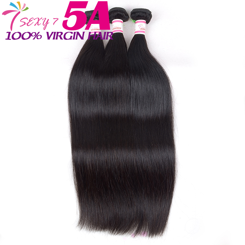 Wholesale brazilian virgin hair straight 3 pcs unprocessed remy human hair weave Soft and smooth brazilian straight hair bundle(China (Mainland))