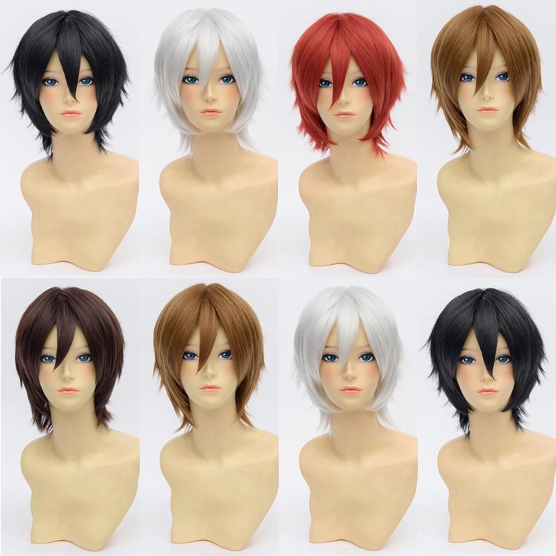5 Styles Kirigaya Kazuto/Akashi Seijuro/Okita Souji Anime Cosplay Wig Short Synthetic Universal Hair Wigs Cosplay<br><br>Aliexpress