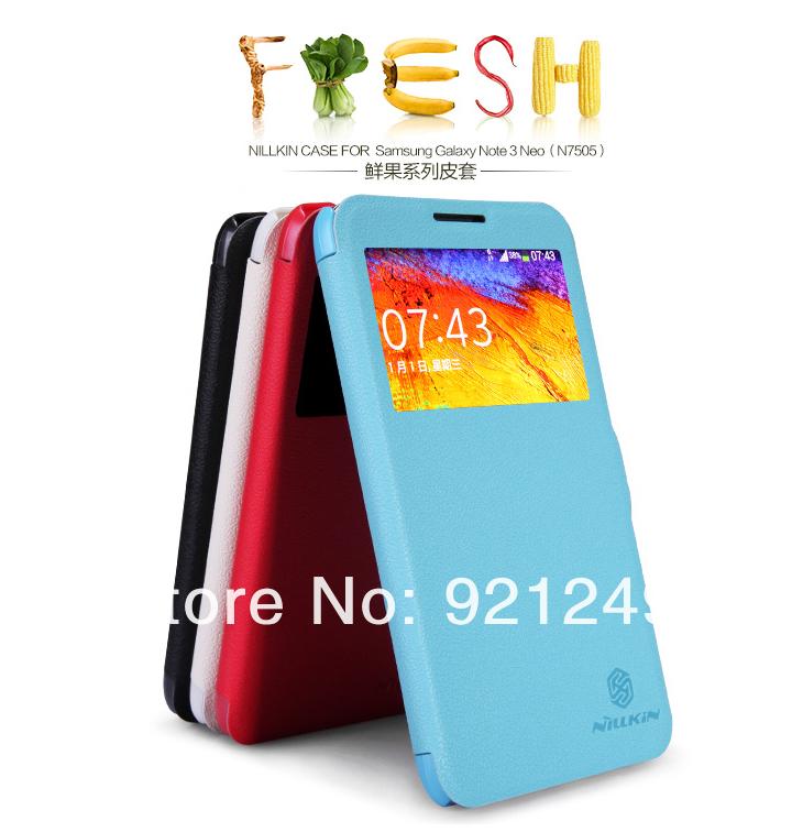 Wholesale 30P/lot DHL-Free For Samsung N7505/GALAXY Note 3 Neo Case NILLKIN Fresh Fruit Series Galaxy Grand +Film+Retail(China (Mainland))