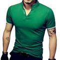Men s V Neck T Shirt Men Summer Fashion Solid Short Sleeve T Shirt Mens Print