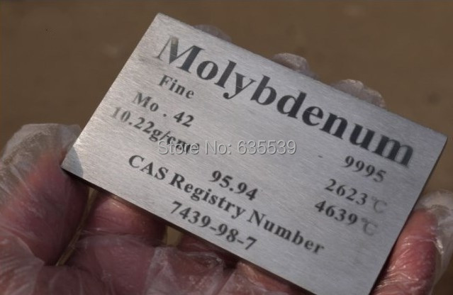 312g Molybdenum board Mo&gt;=99.95%Molybdenum rare metals Circle phenotypic elements plate 5* 60 * 100 mm<br><br>Aliexpress