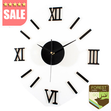 Buy 2016 New Arrival Quartz Clocks Fashion Watches 3d Wall Clock Rushed Mirror Sticker Diy Modern Living Room Decor Clock Watch Wall for $7.22 in AliExpress store