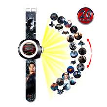 Novo Herói anime Crianças Relógios 3D Projeção relógio Relógio de brinquedo para o Bebê Das Meninas Dos Meninos da criança Crianças Digital relógio de Pulso Eletrônico(China)