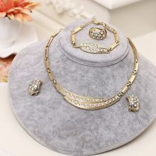 ניגריה תכשיטי סטים לנשים אפריקה חרוזים תכשיטי סט דובאי זהב חתונה כלה תכשיטים סטי נשים אבזרים(China)