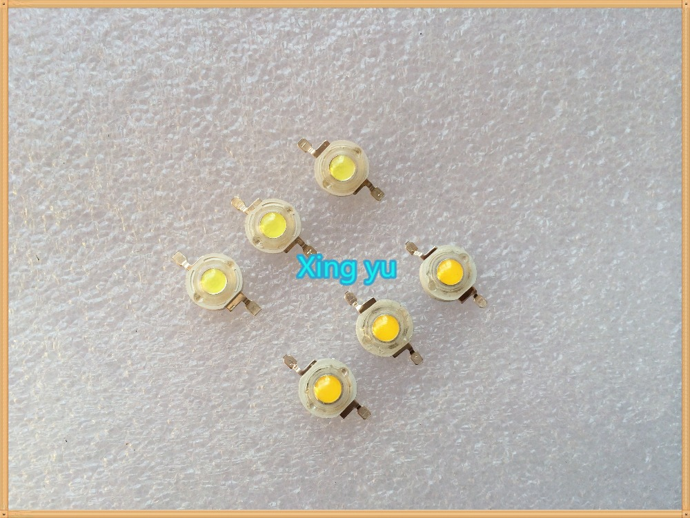 Free Shipping 100PCS/LOT 1W 100-120LM LED Bulb IC SMD Lamp Light Daylight white Red Blue green High Power 1W LED Lamp bead(China (Mainland))