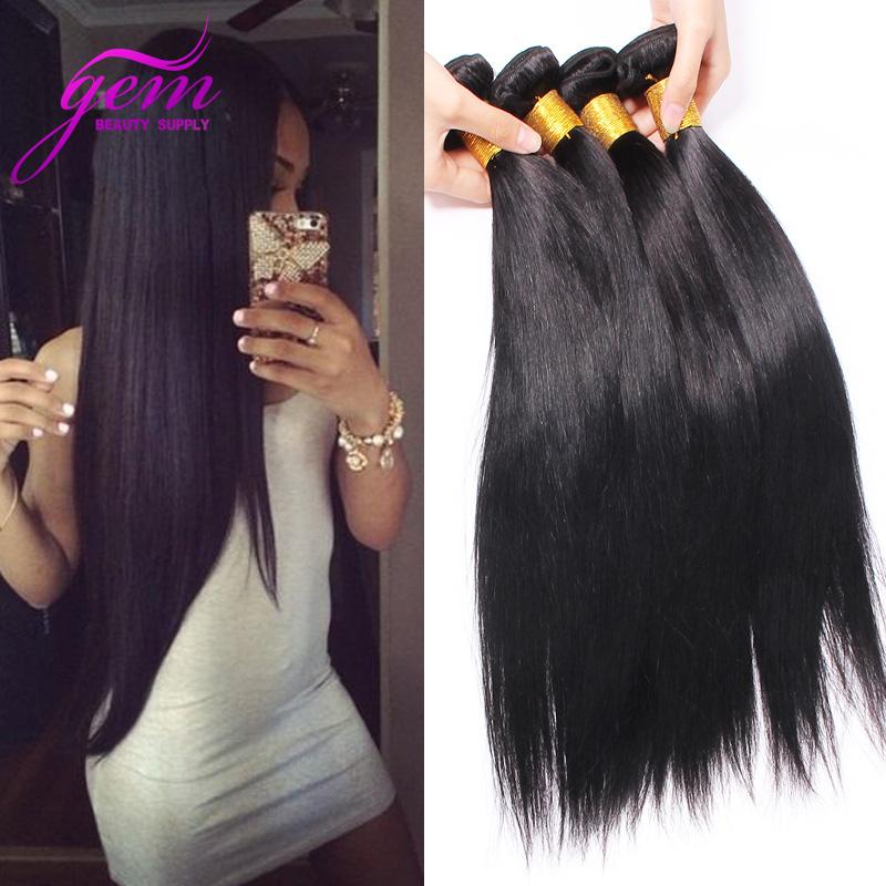 4 Bundles Brazilian Straight Hair Weave Bundles Unprocessed Brazilian Virgin Hair Straight Mink Brazilian Human Hair 400g 8-30