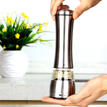 New  Arrival  hot Sale Stainless Steel Manual Salt Pepper Mill Grinder Portable Kitchen Mill Muller Tool(China (Mainland))