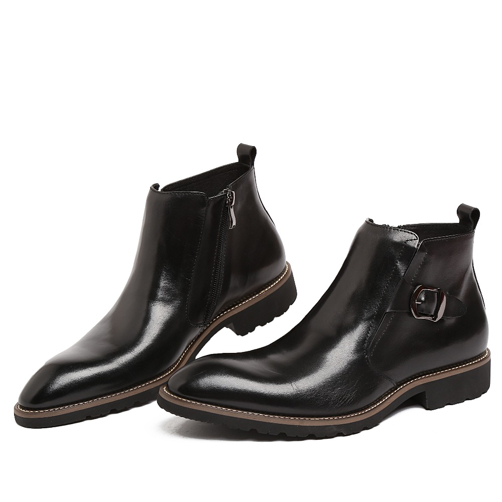 2015 autumn fashion designer motorcycle mens ankle boots
