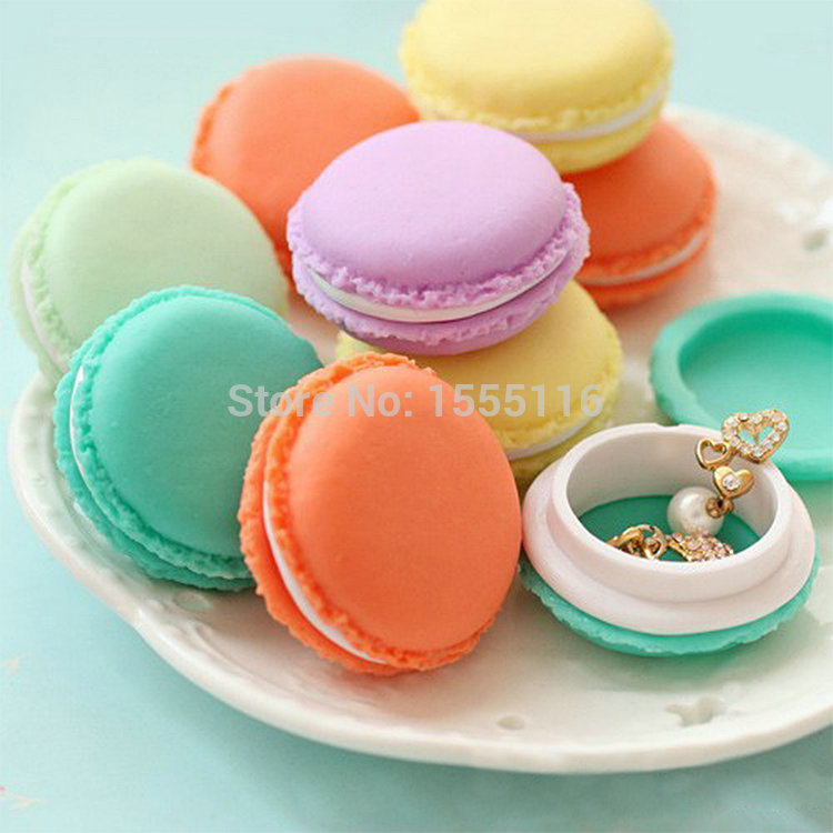 Mini Cute Macaron Storage Box Bin Candy Color Organizer for Jewelry Gift Novelty households storage bag(China (Mainland))