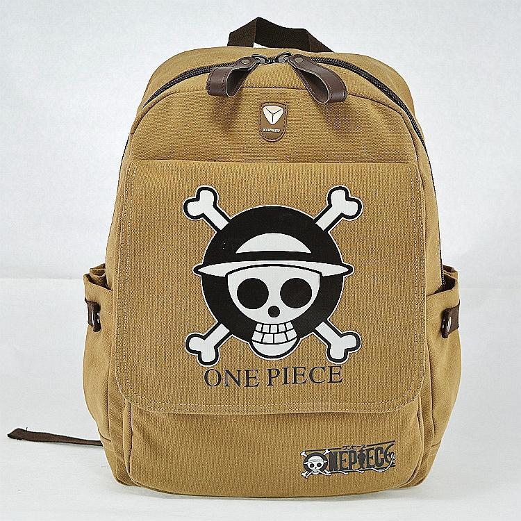 New Cartoon Skull Designer Anime Fashion Childrens School bag ONE PIECE Backpack<br><br>Aliexpress
