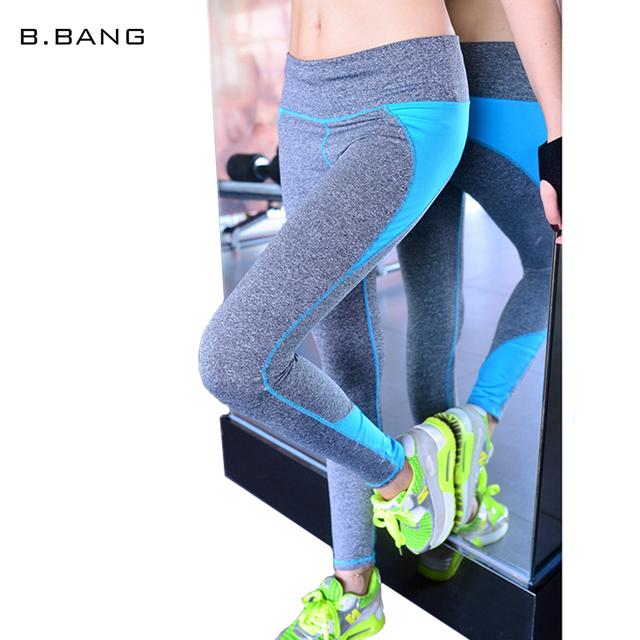 B Взрыва мода женщины спортивные капри конфеты цвета фитнес-ходовые эластичные леггинсы ...