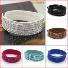 New Fashion 6 Layer Leather Bracelet! Factory Discount Prices, Charm Bracelet!1 Free Shipping!13 Color Choices