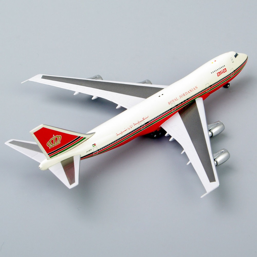 1:500 Model Airplane Alia Red SCHEMED Boeing 747-200 JY-AFA Royal Jordanian Airliner Aircraft Diecast Airplane Model Toys Gift(China (Mainland))