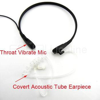 New  Throat Mic Air Tube Headset for ICOM F3 V8 F21BR Maxon Walkie talkie two way  Radio C0011A Alishow